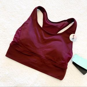 🌻3for25🌻FOREVER 21 SPORTS BRA MAROON WITH MESH